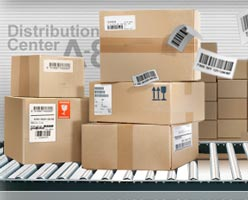 Box business with barcode