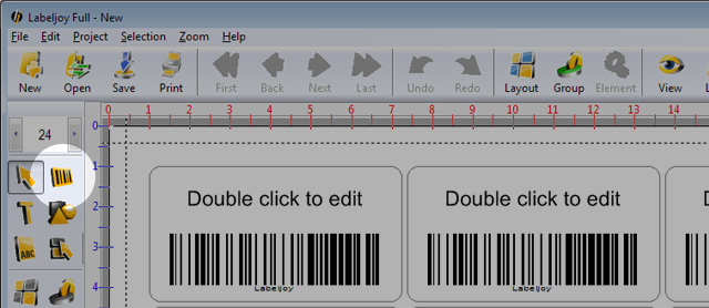 Barcode 128 generator button