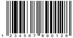 Example of EAN 13 barcode