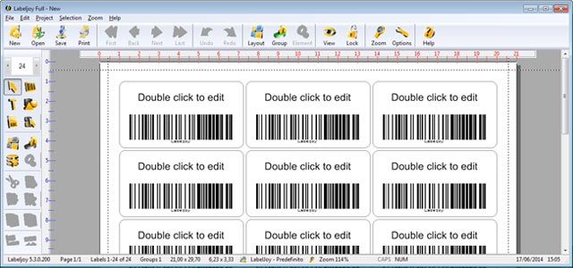 Double click on barcode to make barcode