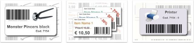 Example of barcode label templates